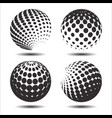 set abstract halftone 3d spheres 26 vector image vector image