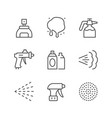 set line icons spray vector image vector image