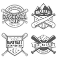 Set of vintage baseball labels and badges vector image vector image