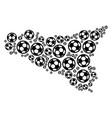 Sicilia map mosaic of soccer balls