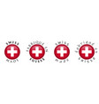 simple swiss made french translation 3d button vector image vector image