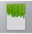 slime abstract green liquid background vector image vector image