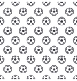 soccer ball seamless background vector image vector image