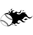 softball or baseball with vector image