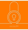 Stock Linear icon lock vector image
