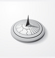 sundial gray object vector image vector image