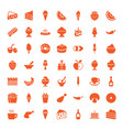 tasty icons vector image vector image