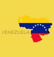 venezuela map national flag icon vector image vector image