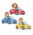 Women Driving Car vector image vector image