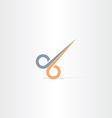 hair cut scissors icon vector image