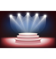 3d of Photorealistic Podium Stage with Blue Stage vector image
