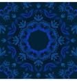 Abstract blue floral background with round pattern vector image vector image