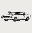 american retro muscle car concept vector image
