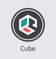auto - cube the icon of crypto currency or market vector image