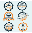 bbq seafood steak labels icons badges template set vector image vector image