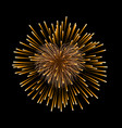 beautiful heart-firework gold romantic firework vector image vector image