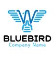 Blue Bird Design vector image vector image