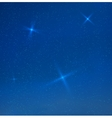 blue evening skyes with stars vector image