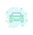 cartoon car icon in comic style automobile vector image
