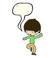 cartoon panicking man with speech bubble vector image vector image