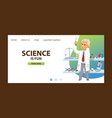 chemistry chemical science landing page vector image vector image