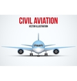Civil Aircraft standing on the chassis vector image vector image