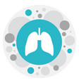 clinic symbol on lung icon vector image vector image