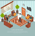 clinic waiting room isometric vector image vector image