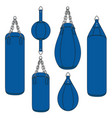 color with a blue punching bag vector image vector image