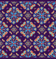 colorful butterfly mandala pattern on purple tile vector image vector image