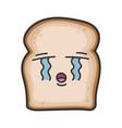 crying slice bread cartoon vector image vector image