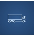 Delivery truck line icon vector image vector image