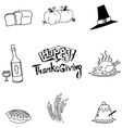 Element food Thanksgiving in doodle vector image vector image