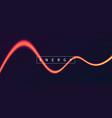 energy light wave vibrant glowing neon line vector image vector image