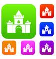 fairytale castle set collection vector image vector image