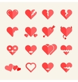 Flat hearts set vector image