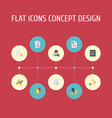 Flat icons safe act paper and other