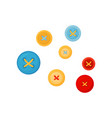 flat set of colorful buttons for clothes vector image