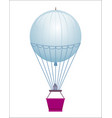 flying balloon isolated icon vector image vector image