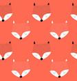 fox seamless pattern vector image vector image