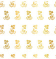 gold foil folk flowers on white pattern vector image vector image