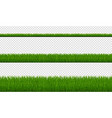 green grass borders isolated transparent vector image vector image