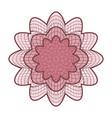 guilloche rosette abstract rosette vector image
