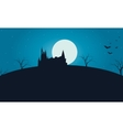 Halloween in hills scary with full moon vector image vector image