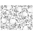 hand drawn background of autumn bunnies vector image vector image