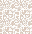hand-drawn doodle seamless pattern with hearts vector image vector image