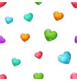 heart seamless cartoon pattern love icon vector image