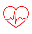 heart with heartbeat sign vector image vector image