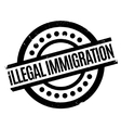 Illegal Immigration rubber stamp vector image vector image