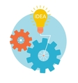 Light bulb with gears and cogs working together vector image vector image
